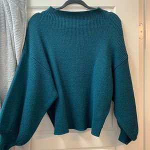 Line + Dot cropped bubble sleeve sweater